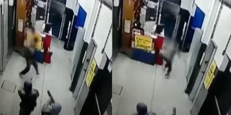 Bandido tenta assaltar hipermercado mas acaba morrendo baleado; assista o vídeo