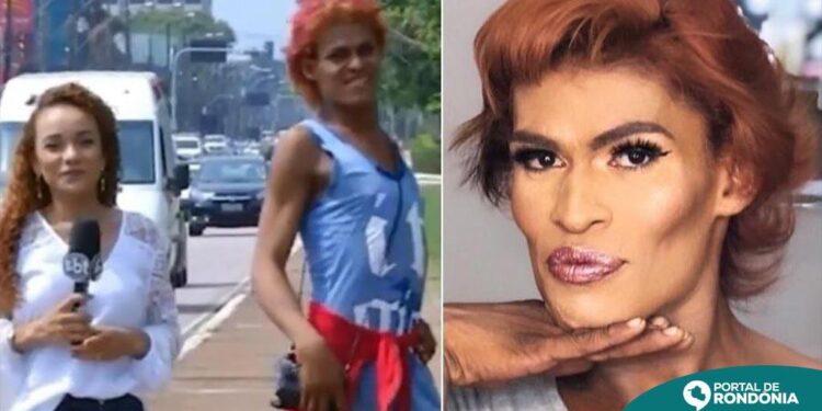 Morre travesti que virou meme ao aparecer desfilando em reportagem ao vivo; relembre